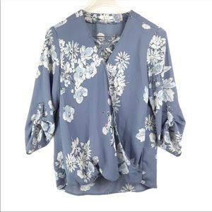 NWOT Maurices floral wrap blouse